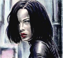 Kate Beckinsale miniature by wu-wei