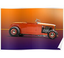 1932 Ford Classic Hot Rod Roadster Poster