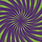 Spiral vortex violet and green by Medusa81