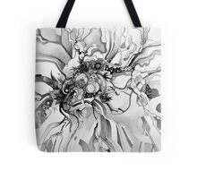 Sub-Atomic Stress Release Therapy - Watercolor Painting - Black and White Tote Bag