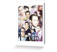 chris pine collage Greeting Card