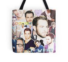 chris pine collage Tote Bag