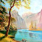 kerns river valley, california after Albert Bierstadt by Hidemi Tada