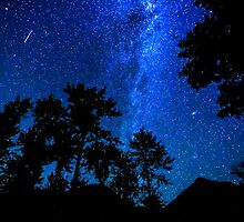 Starry, starry night in the Skykomish Valley  by Jim Stiles