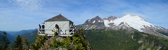 Park Butte Lookout Panorama by sketchpoet