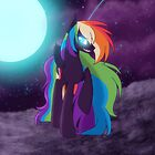 Nightmare Rainbow Dash by Ashley Nichols