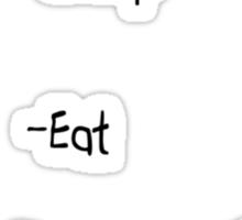 Eat Sleep Stud... Sticker