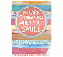 When You Smile Poster