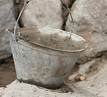 Construction Bucket at a Building Site by rhamm