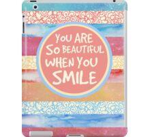 When You Smile iPad Case/Skin