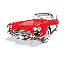 61 Corvette Photographic Print