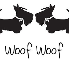 Woof Woof Scottie Dogs by BonniePortraits