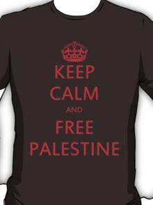 KEEP CALM AND FREE PALESTINE T SHIRT & gifts T-Shirt