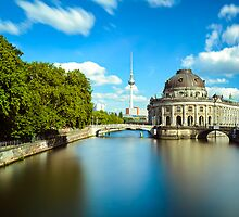 Museum island on Spree river, Berlin by Michael Abid
