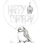 Happy Birthday Birdie Card by emilyhline