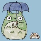 Tototo and Frog in the Rain by LanFan