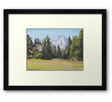 Field With a View Framed Print