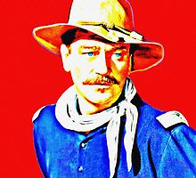 John Wayne in Rio Grande by Art Cinema Gallery