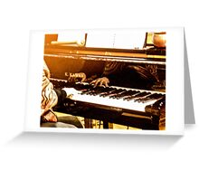 Hands That Play The Piano Greeting Card