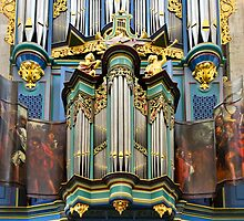 Pipe organ in Breda Cathedral by churchmouse