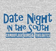Date Night in the South Camoflouge Guns Tailgates Blue by marceejean