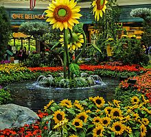 Floral Fountain - Bellagio -  Las Vegas Nevada USA by TonyCrehan