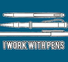 I work with pens by Emma Harckham