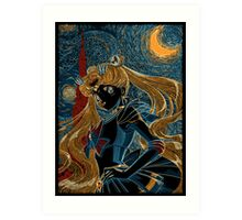 Usagi and the Starry Night Art Print
