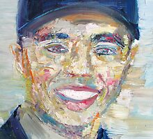 TIGER WOODS - oil portrait by lautir