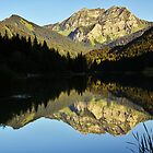 End of the day on Vallon lake by Patrick Morand