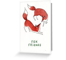 Fox Friends Greeting Card