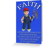 <º))))>< FAITH BIBLICAL CHILDS PICTURE AND OR CARD<º))))><      Greeting Card