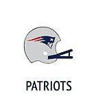 New England Patriots NFL Helmet iPhone Case  by aschwall33