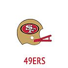 San Francisco 49ers NFL Helmet iPhone Case by aschwall33