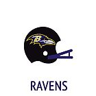 Baltimore Ravens NFL Helmet iPhone Case by aschwall33
