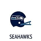 Seattle Seahawks NFL Helmet iPhone Case by aschwall33