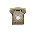 Rotary Phone (beige on white) by elert