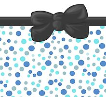 Dots Spots, Ribbon and Bow, Blue White Gray by sitnica