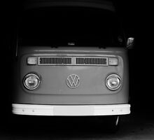 Black and White VW Van by Elinor Barnes