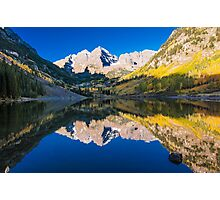 Maroon Bells and Maroon Lake Photographic Print