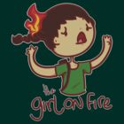 The Girl on Fire by saltyblack