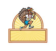 Turkey Run Runner Side Cartoon Isolated by patrimonio