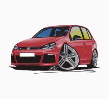 VW Golf (Mk6) R (5dr) Red by Richard Yeomans