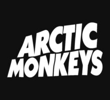 Arctic Monkeys White Logo by AimLamb