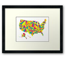 Abstract America Bright Earth Framed Print