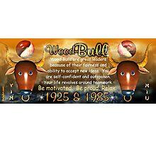 1985 2045 Chinese zodiac born as wood bull by valxart.com  Photographic Print