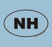 New Hampshire NH Euro Oval Sticker Kids Clothes