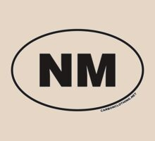 New Mexico NM Euro Oval Sticker by CarbonClothing