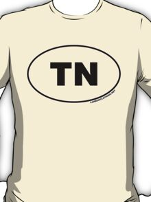 Tennessee TN Euro Oval Sticker T-Shirt