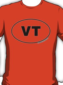 Vermont VT Euro Oval Sticker T-Shirt